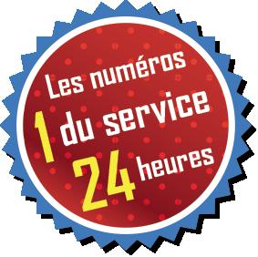 Les numéros 1 du service 24 heures